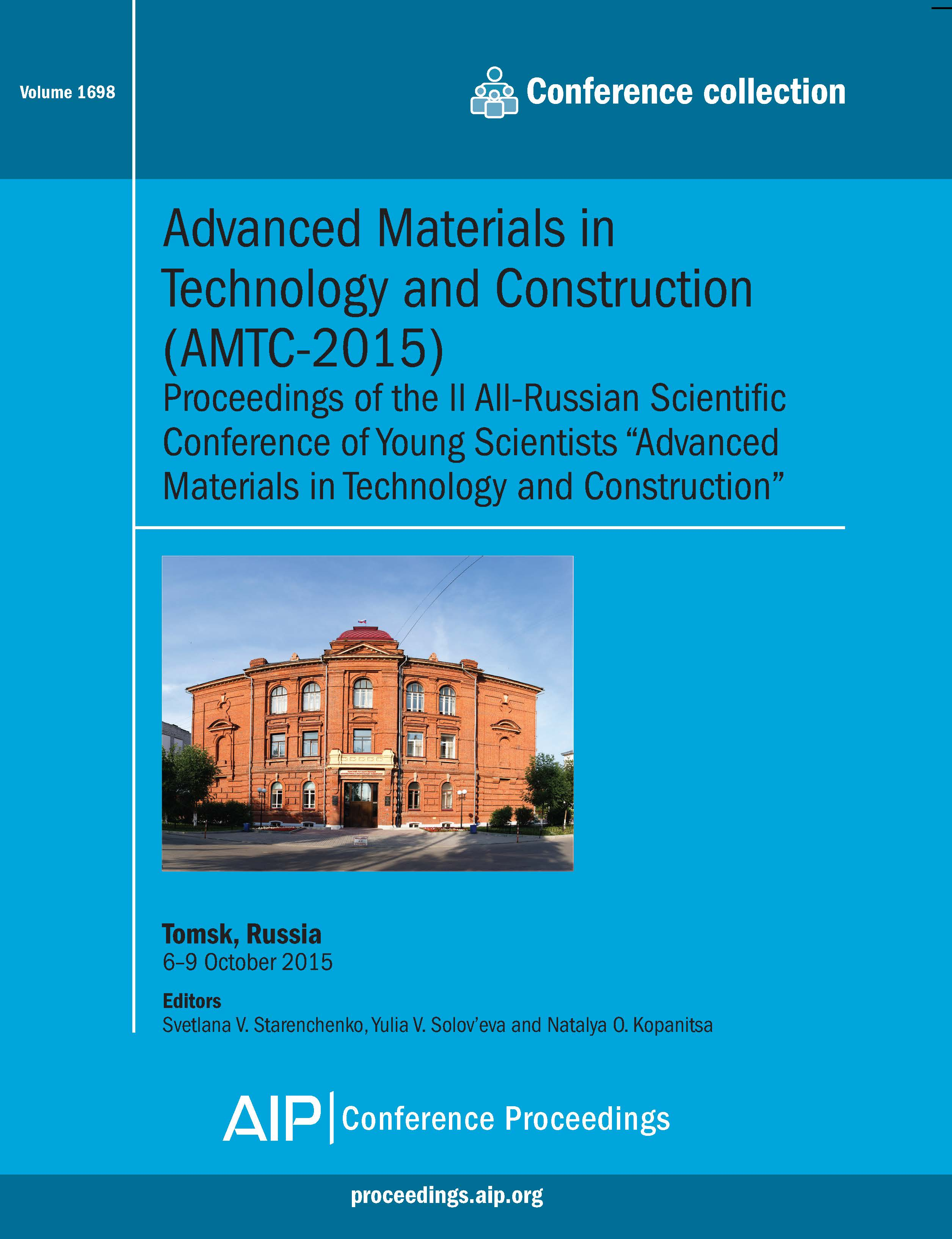 Volume 1698: Advanced Materials in Technology and Construction (AMTC