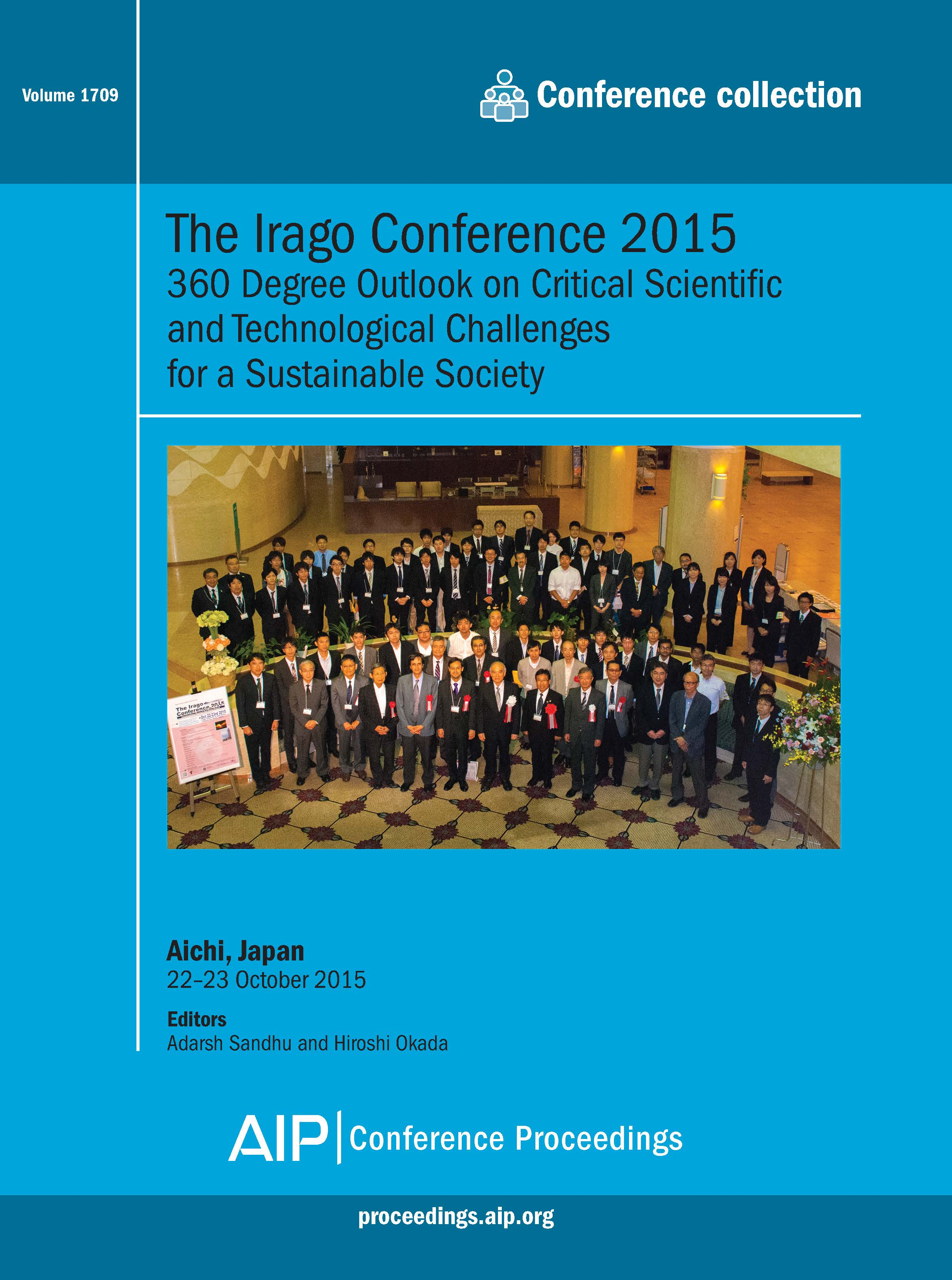 Volume 1709: The Irago Conference 2015 | AIP Publishing