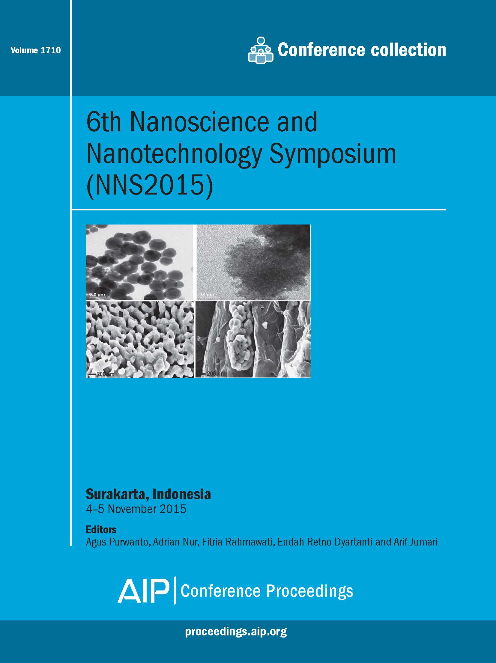 Volume 1710: 6th Nanoscience and Nanotechnology Symposium