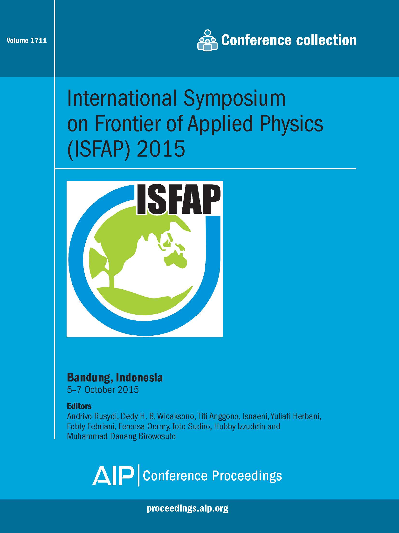 Volume 1711: International Symposium on Frontier of Applied Physics