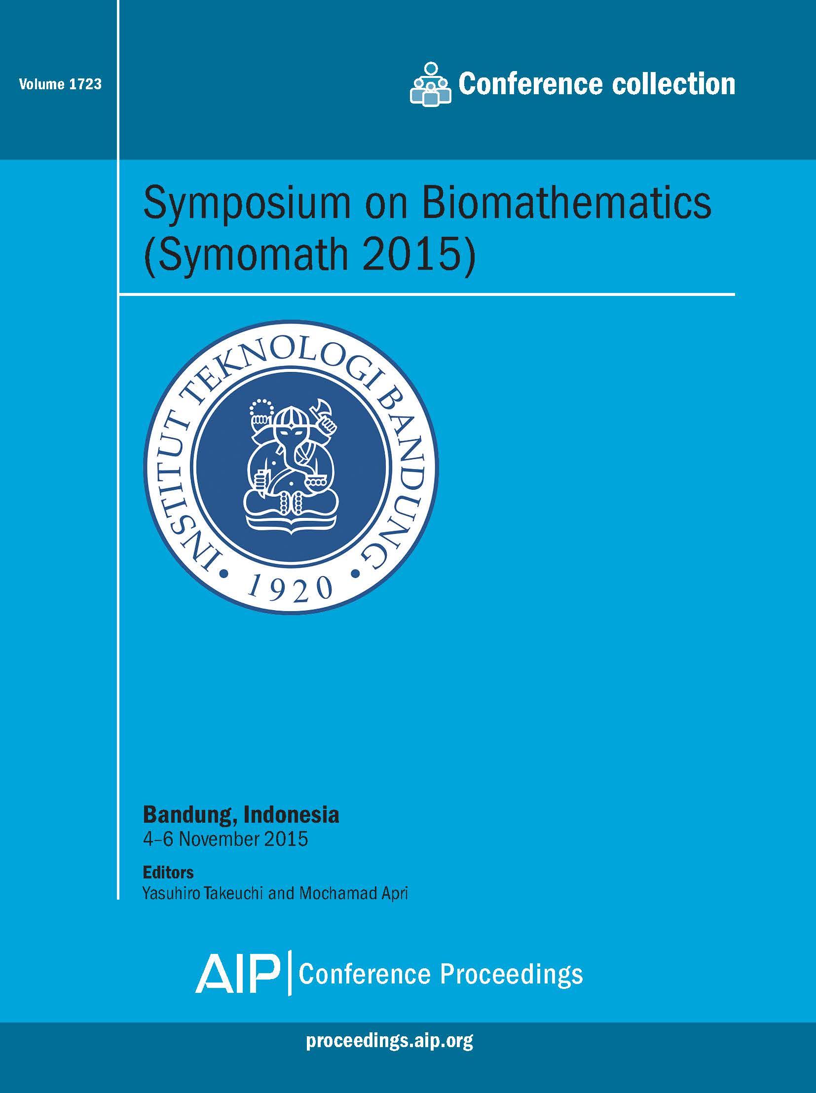 Volume 1723: Symposium on Biomathematics (Symomath 2015)   AIP