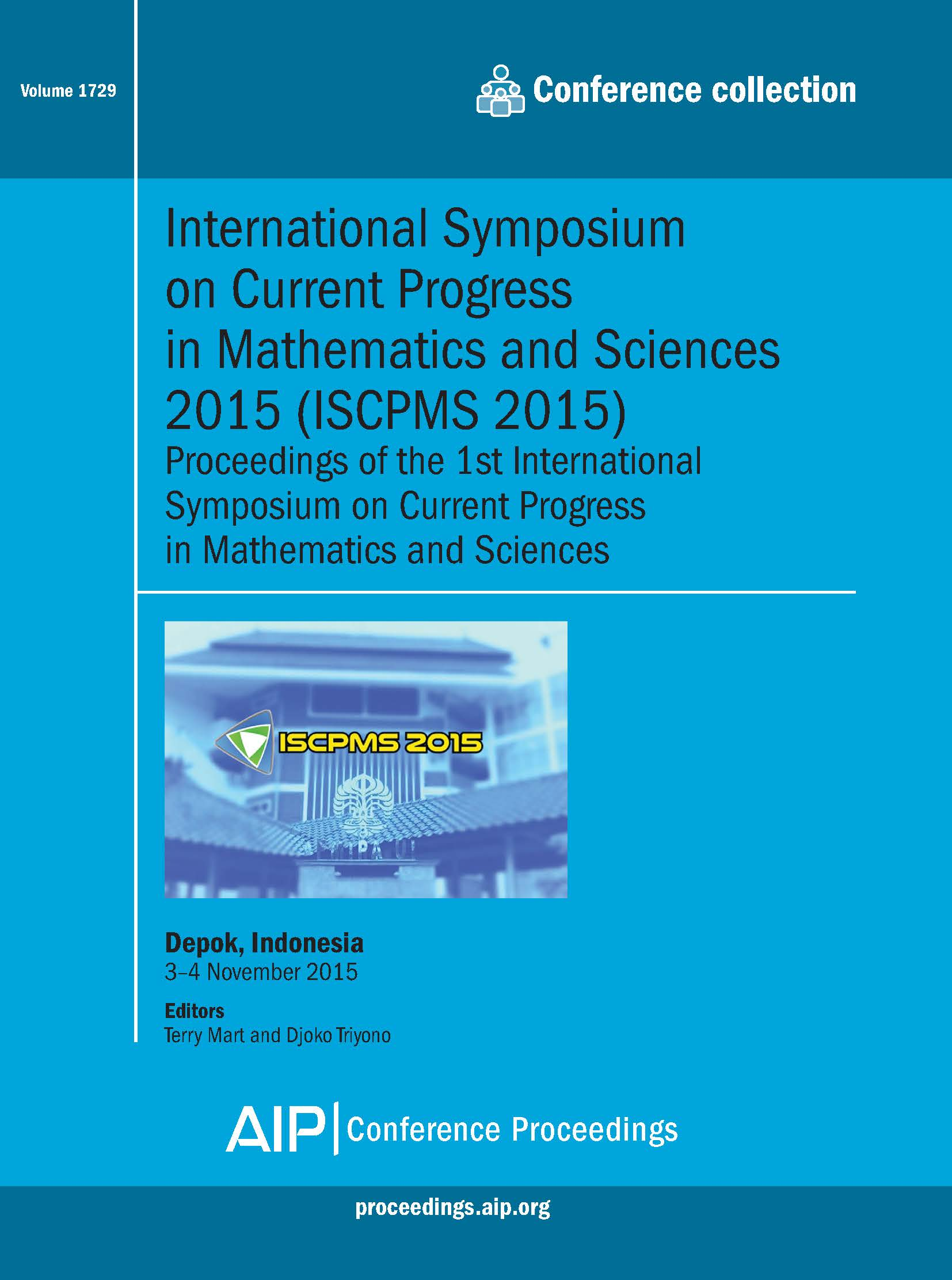 Volume 1729: International Symposium on Current Progress in