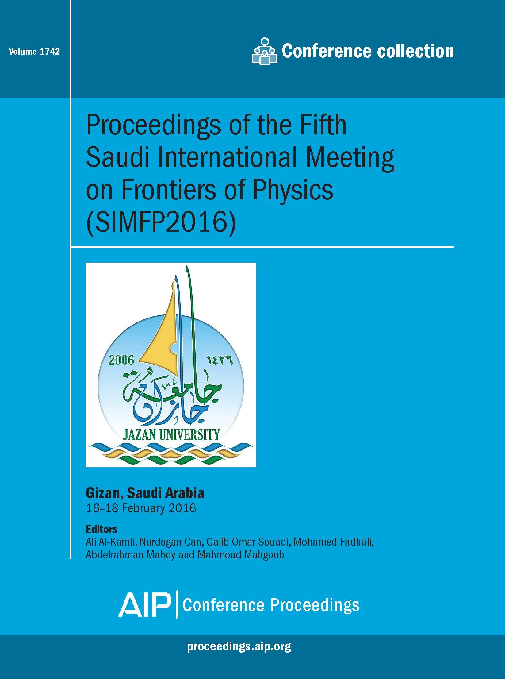Volume 1742: Proceedings of the Fifth Saudi International Meeting on