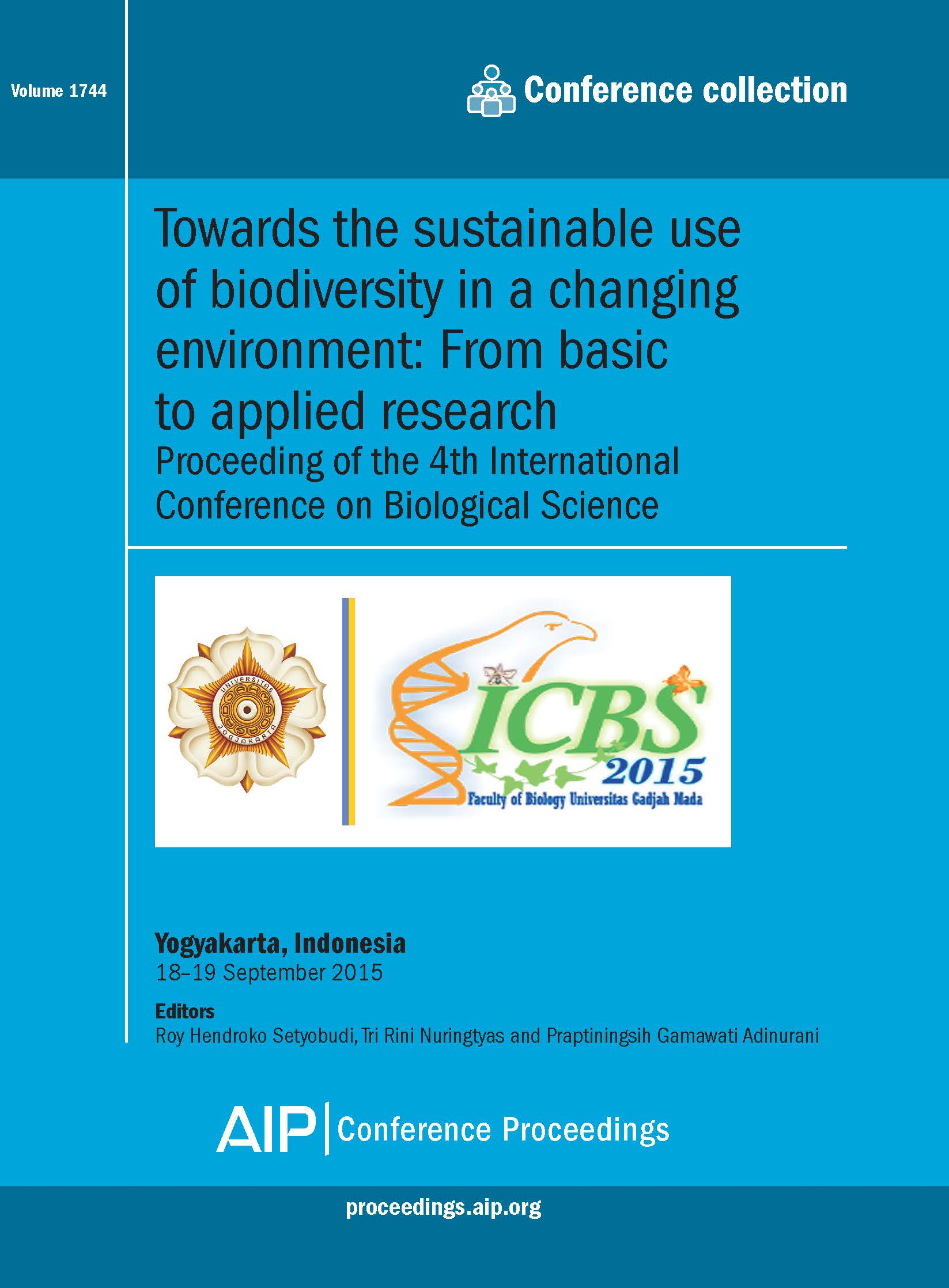 Volume 1744: Towards the sustainable use of biodiversity in