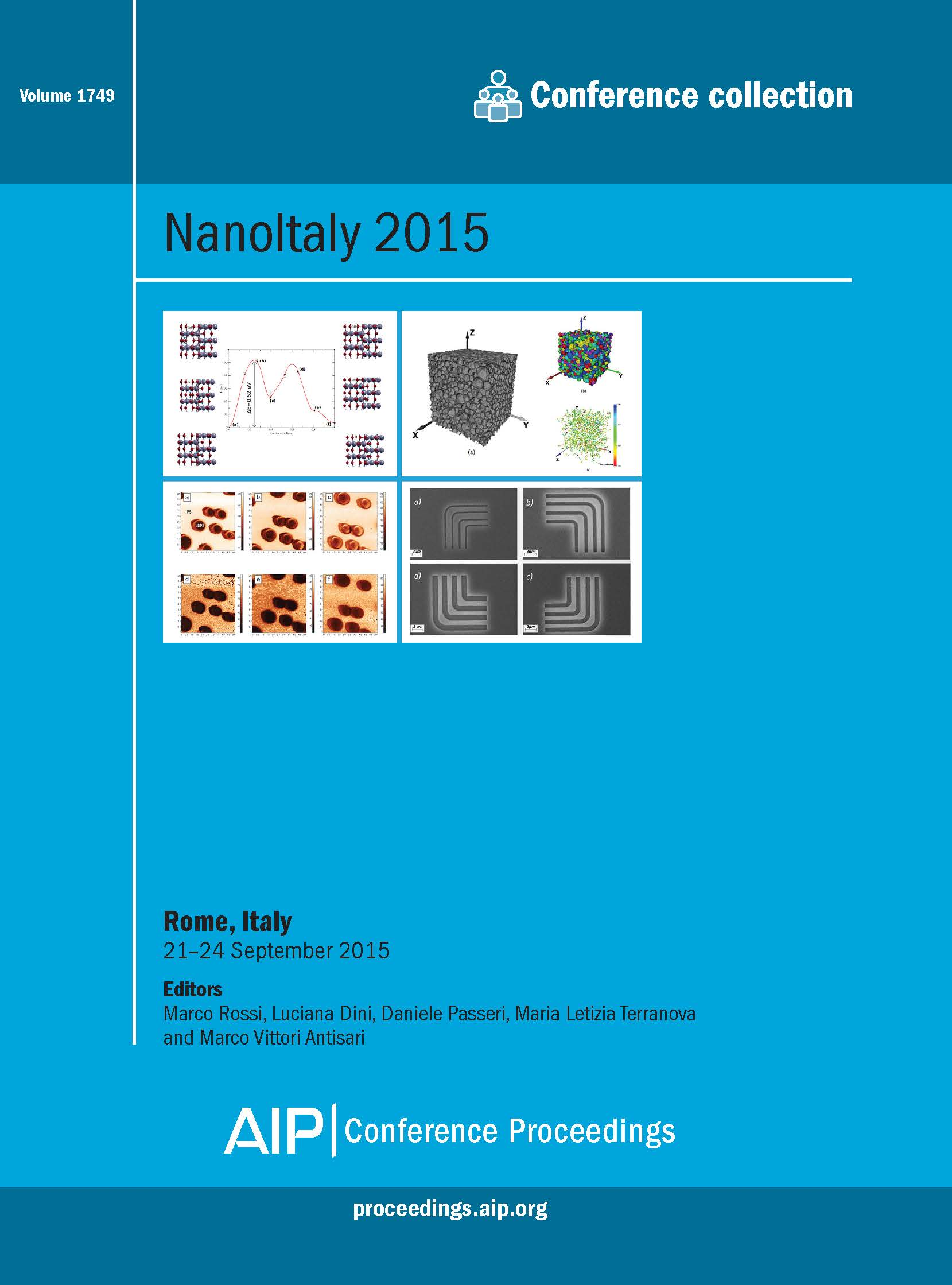 Volume 1749: NanoItaly 2015 | AIP Publishing Print on Demand