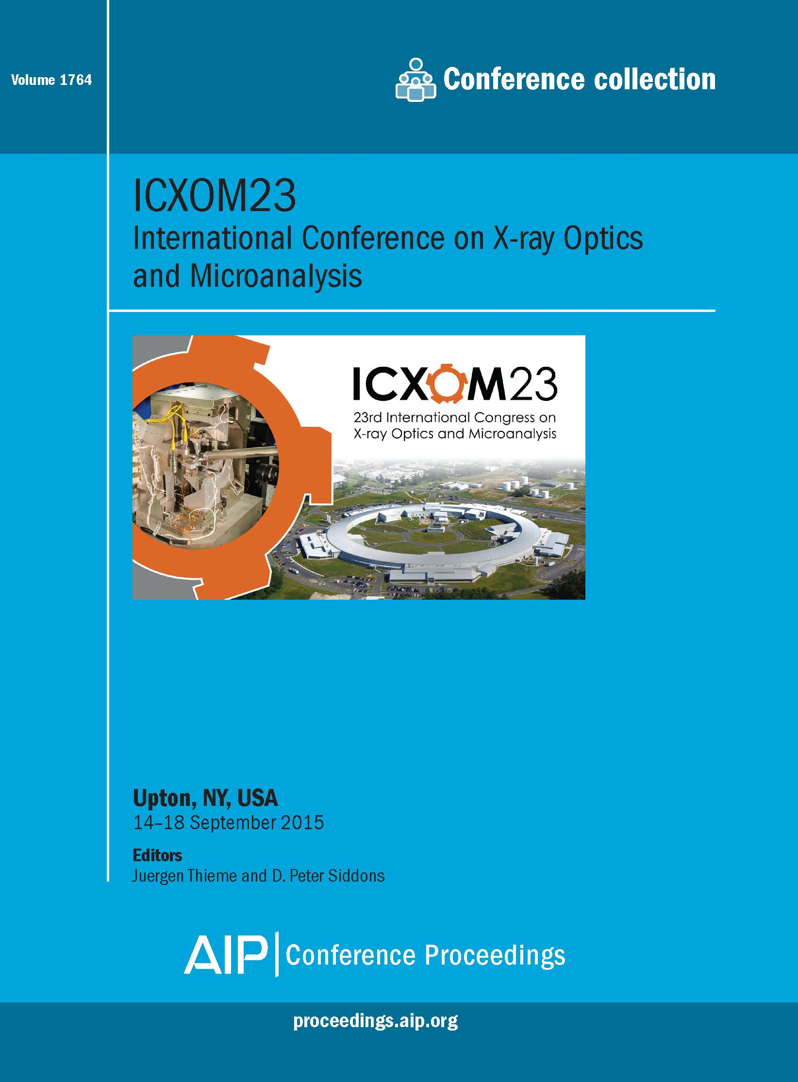 Volume 1764: ICXOM23 | AIP Publishing Print on Demand