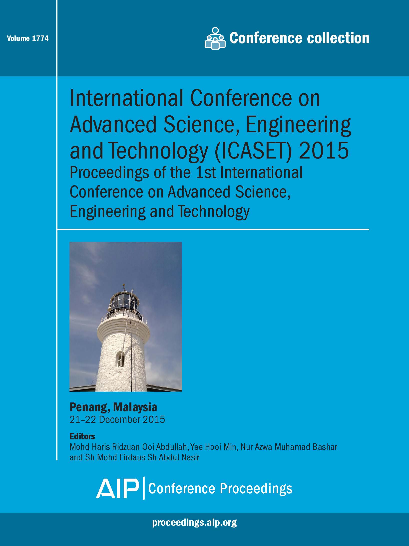 Volume 1774: International Conference on Advanced Science