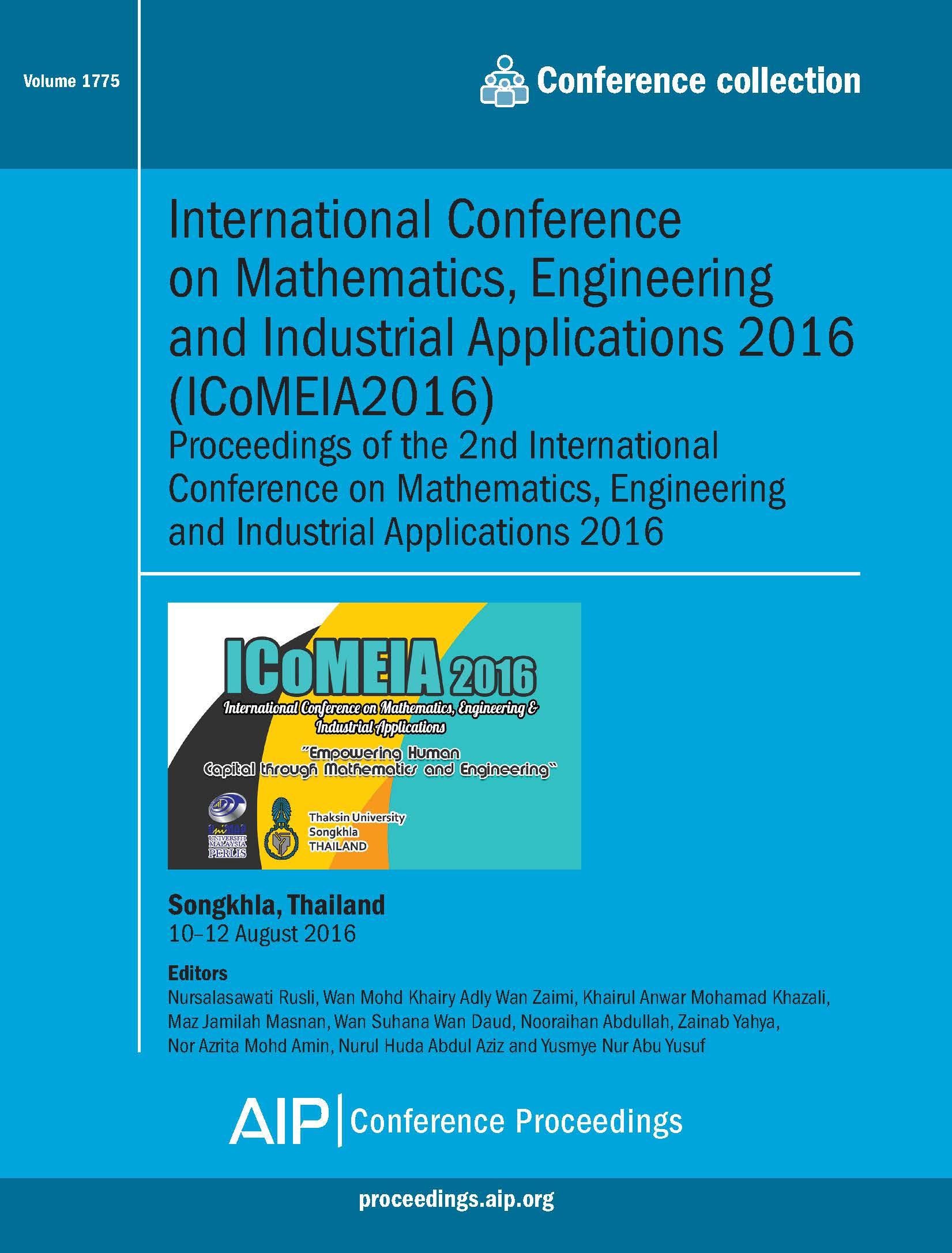 Volume 1775: International Conference on Mathematics, Engineering