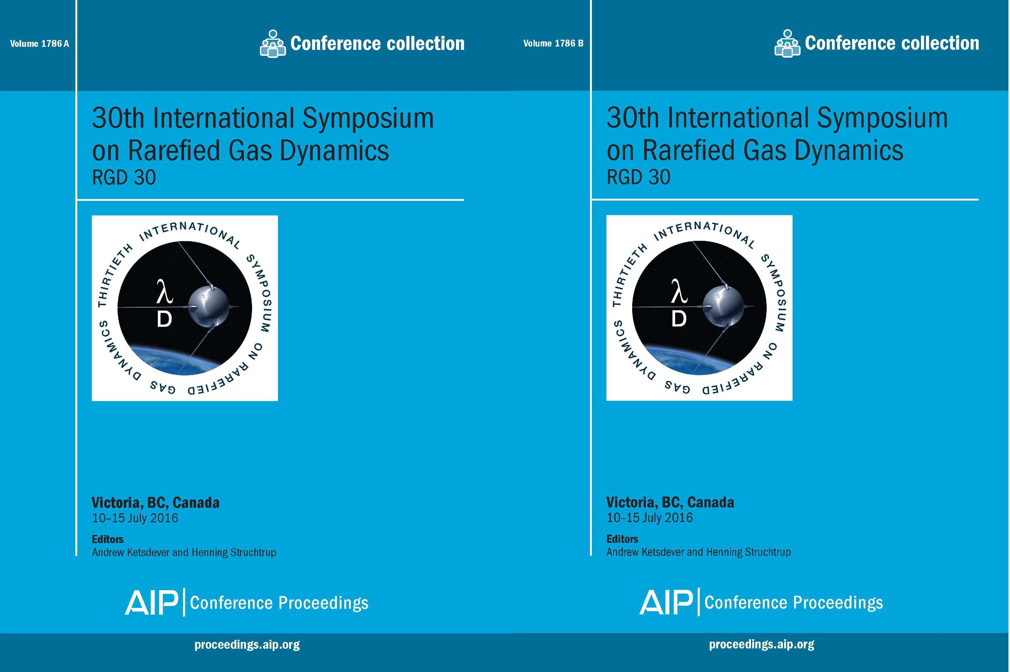 Volume 1786: 30th International Symposium on Rarefied Gas Dynamics