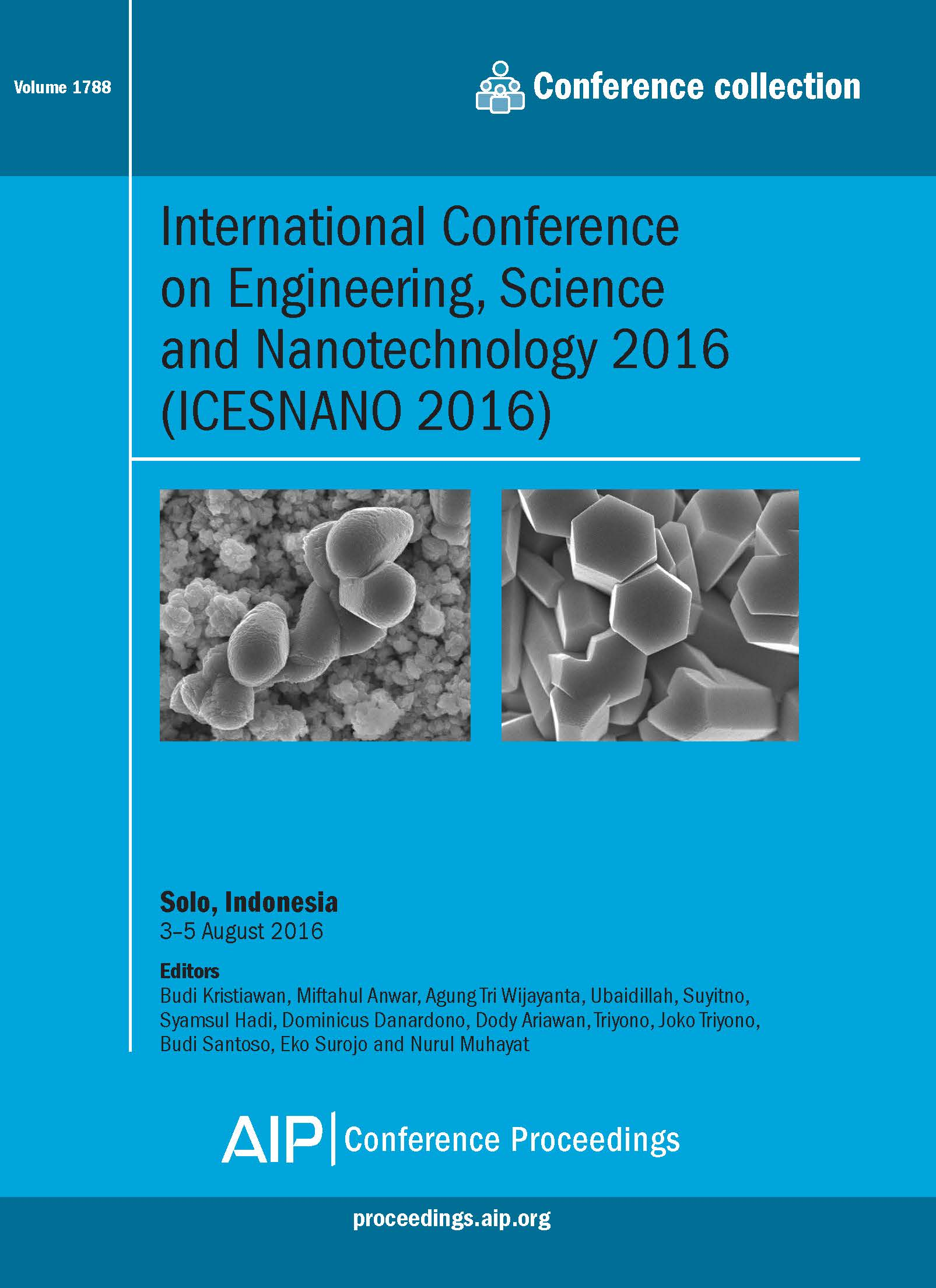 Volume 1788: International Conference on Engineering, Science and