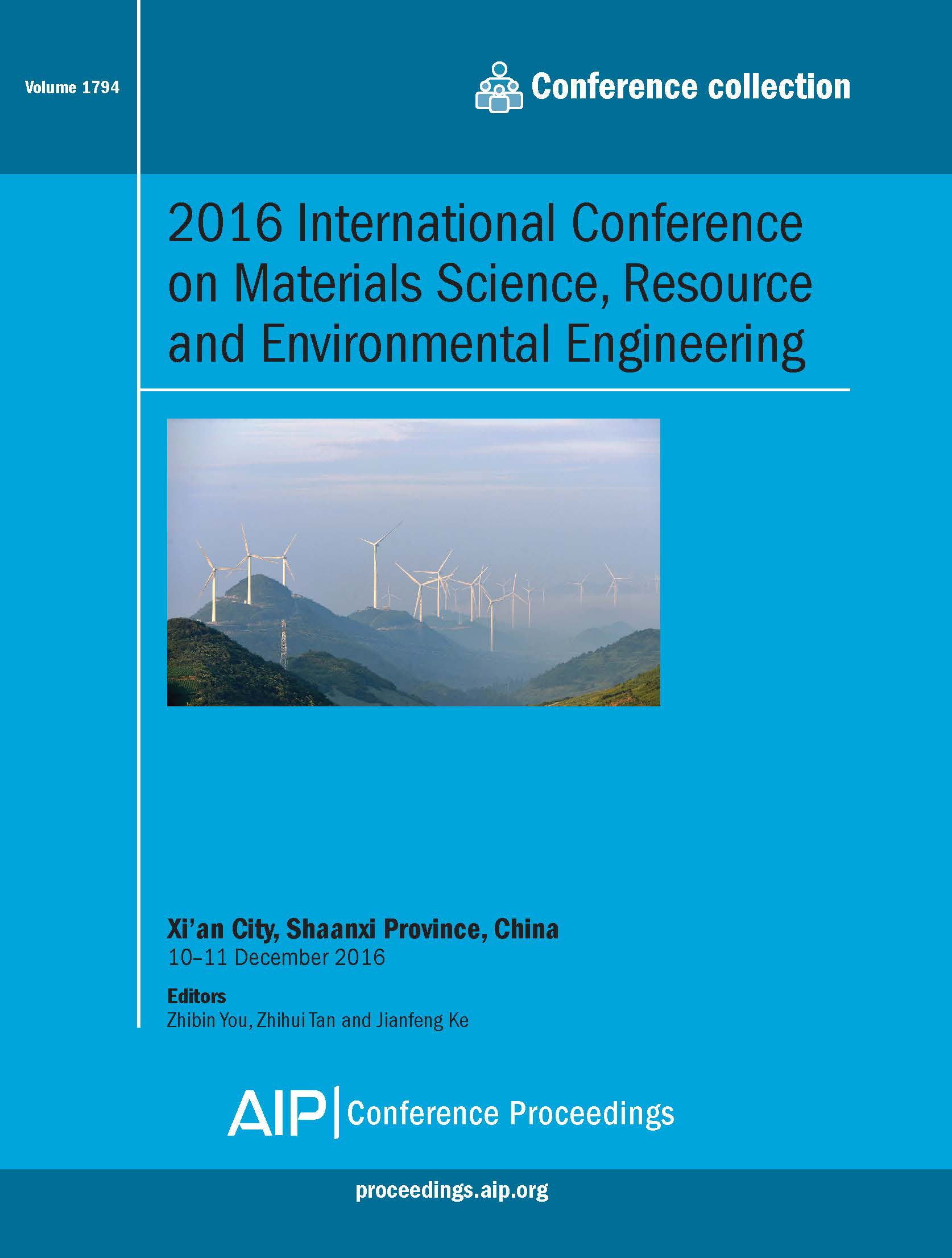 Volume 1794: 2016 International Conference on Materials Science