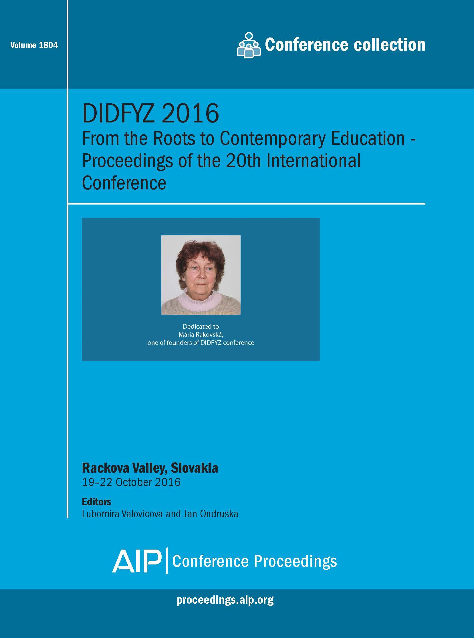 Volume 1804: DIDFYZ 2016 | AIP Publishing Print on Demand