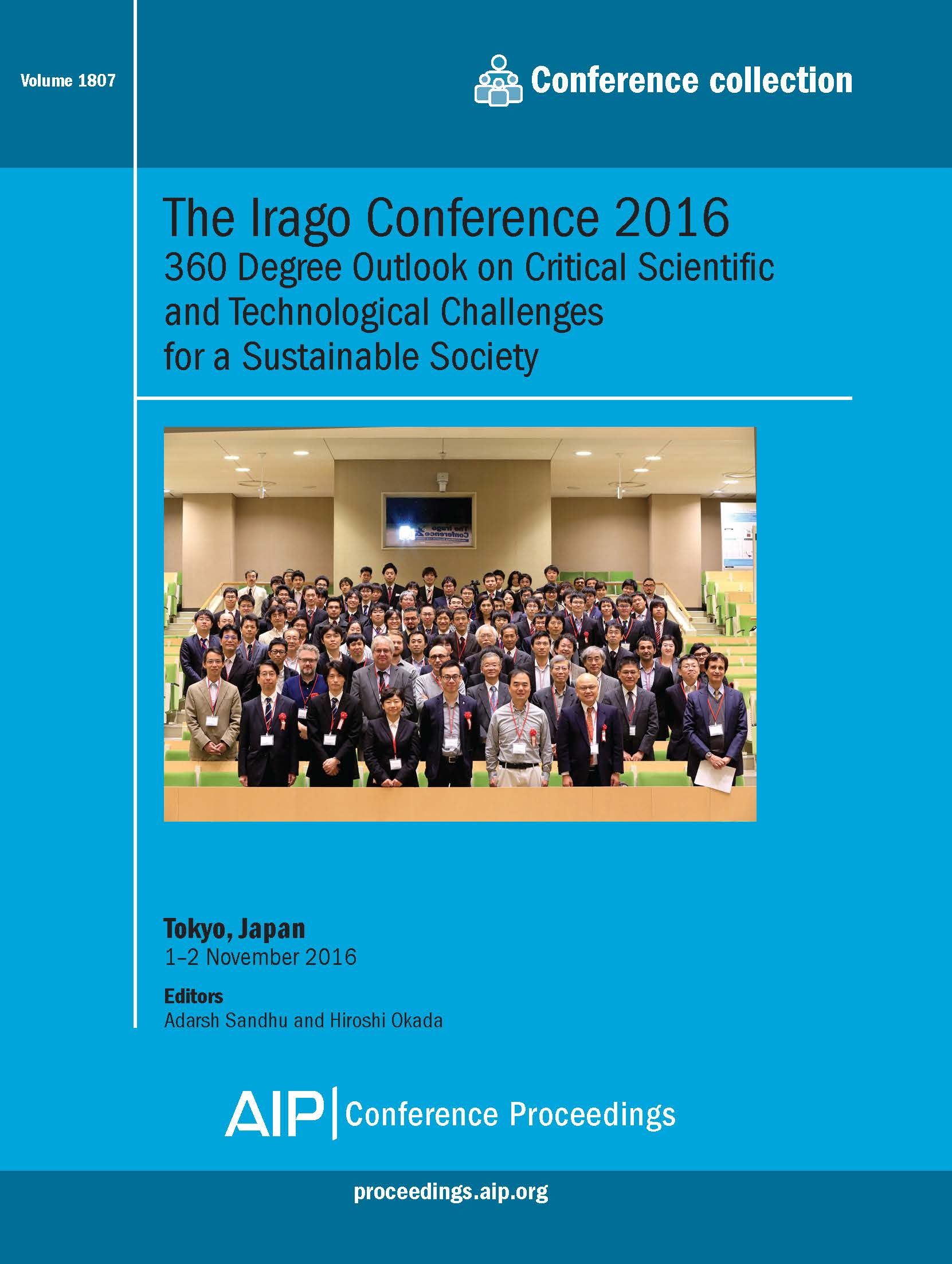 Volume 1807: The Irago Conference 2016 | AIP Publishing
