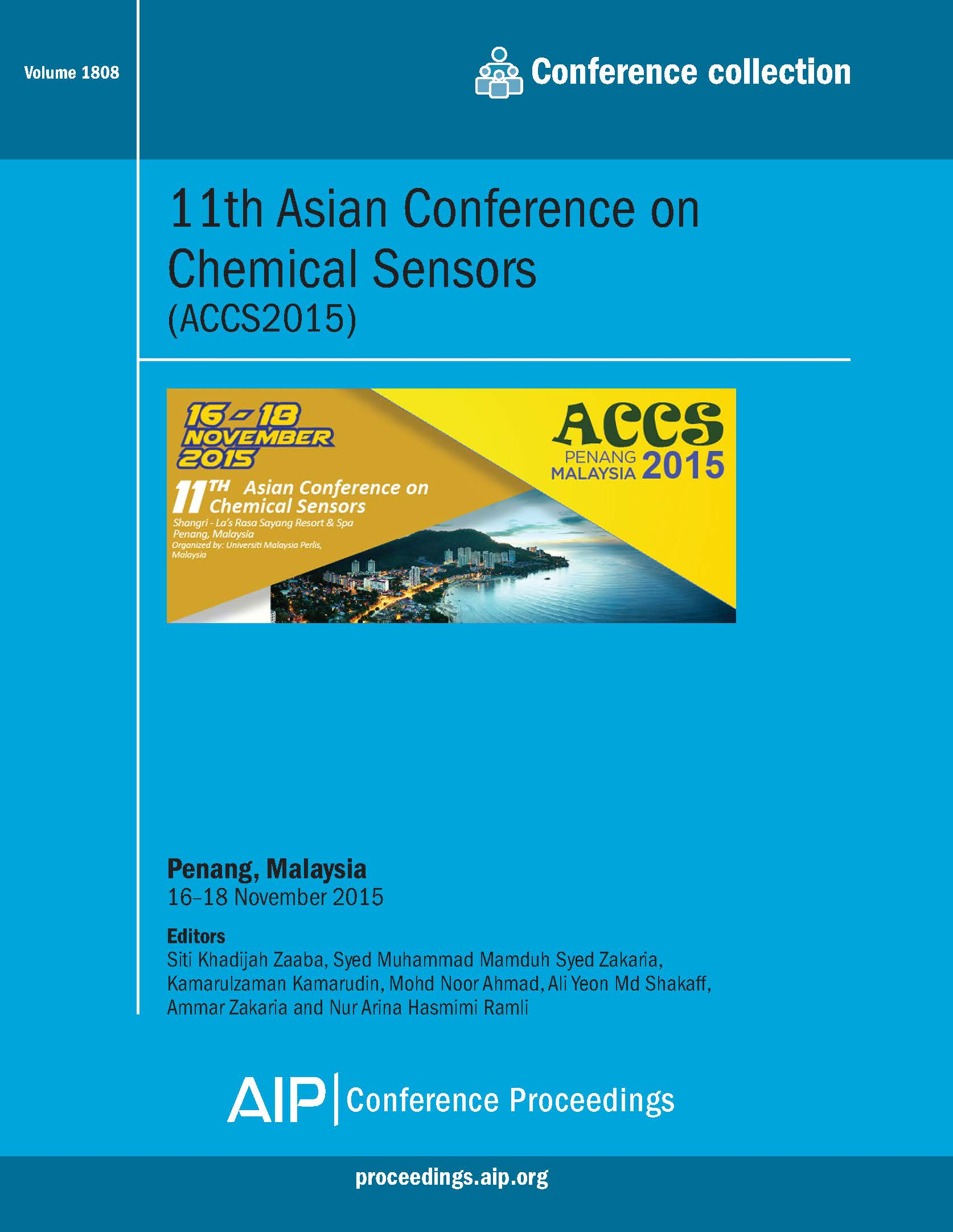 Volume 1808: 11th Asian Conference on Chemical Sensors | AIP