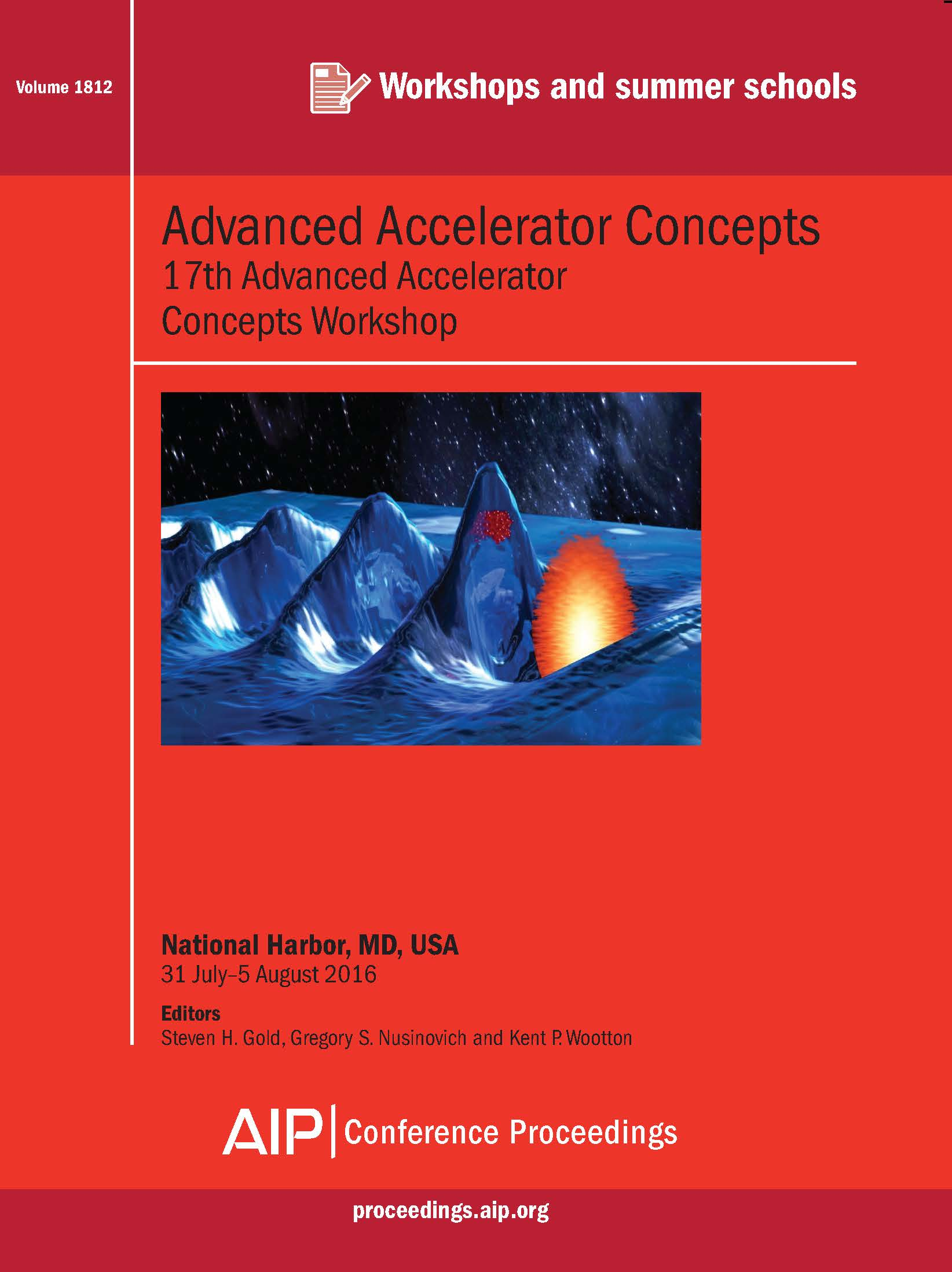 Volume 1812: Advanced Accelerator Concepts | AIP Publishing Print on