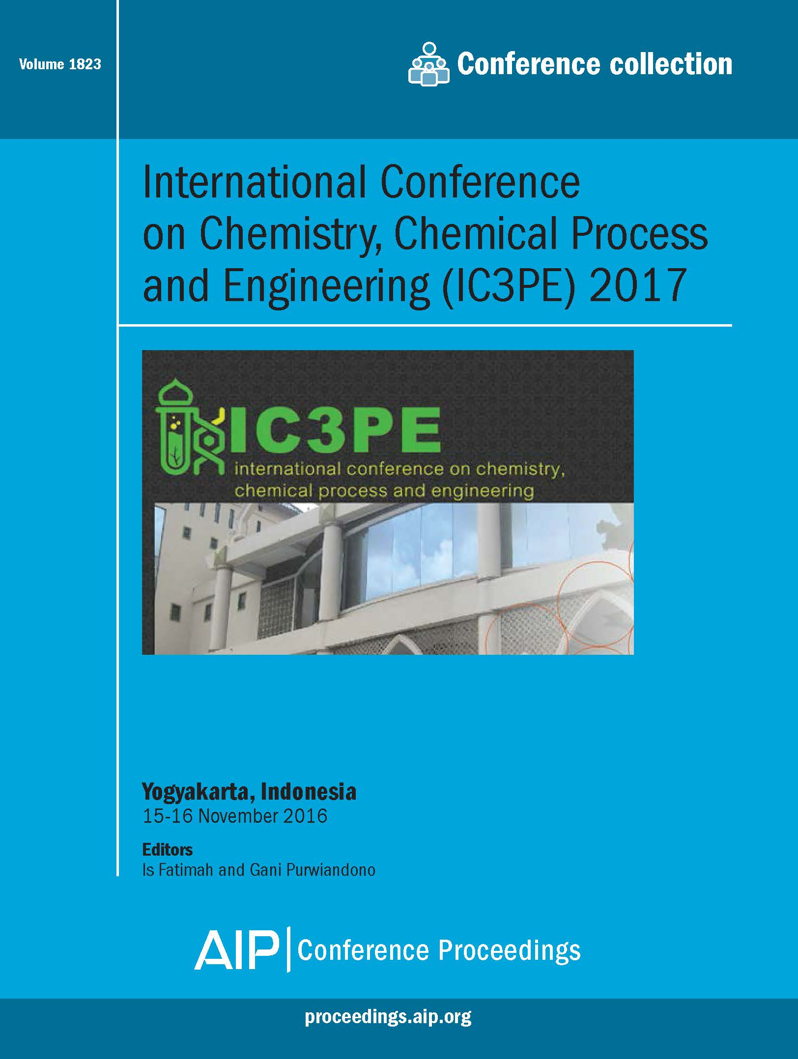Volume 1823: International Conference on Chemistry, Chemical Process