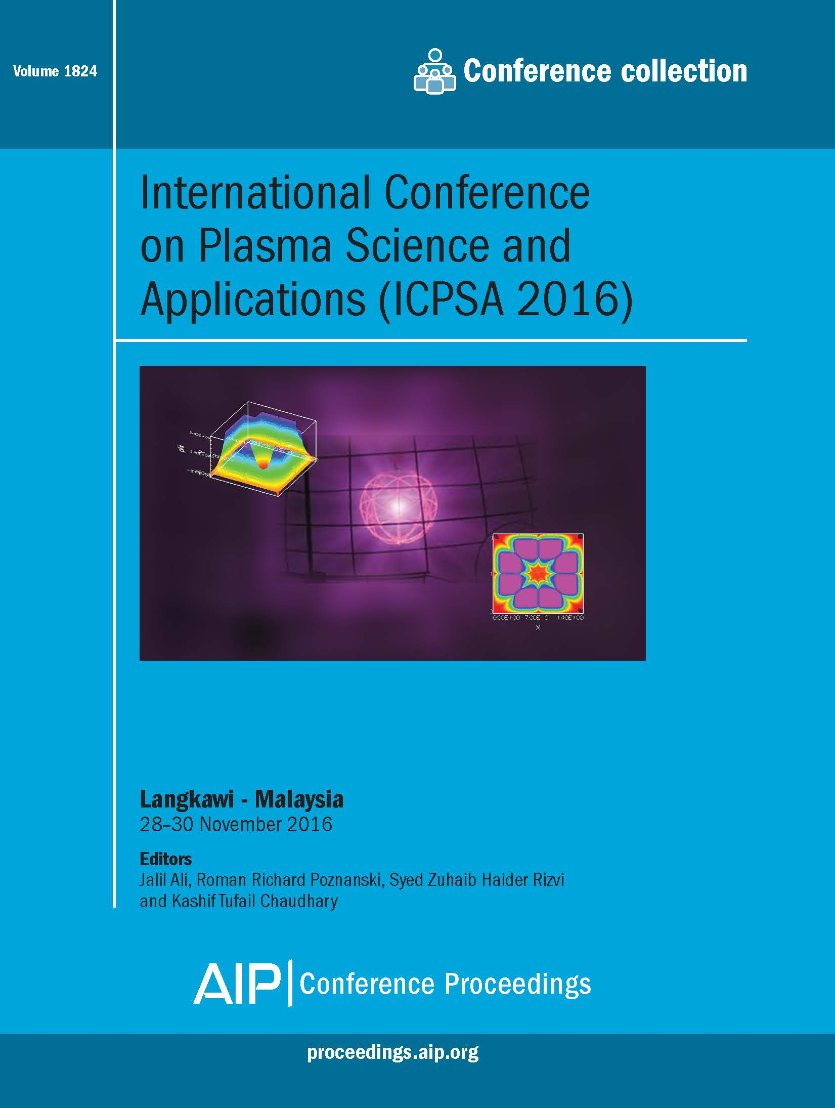 Volume 1824: International Conference on Plasma Science and