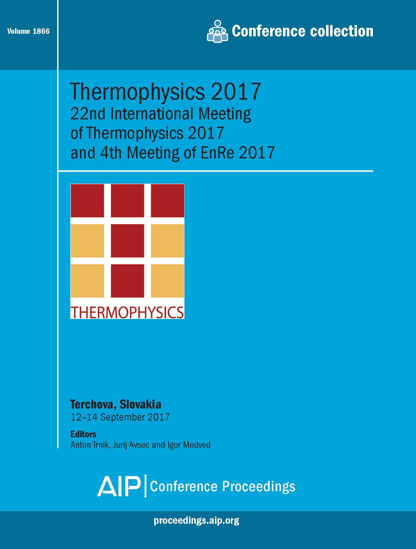 Volume 1866: Thermophysics 2017 | AIP Publishing Print on Demand