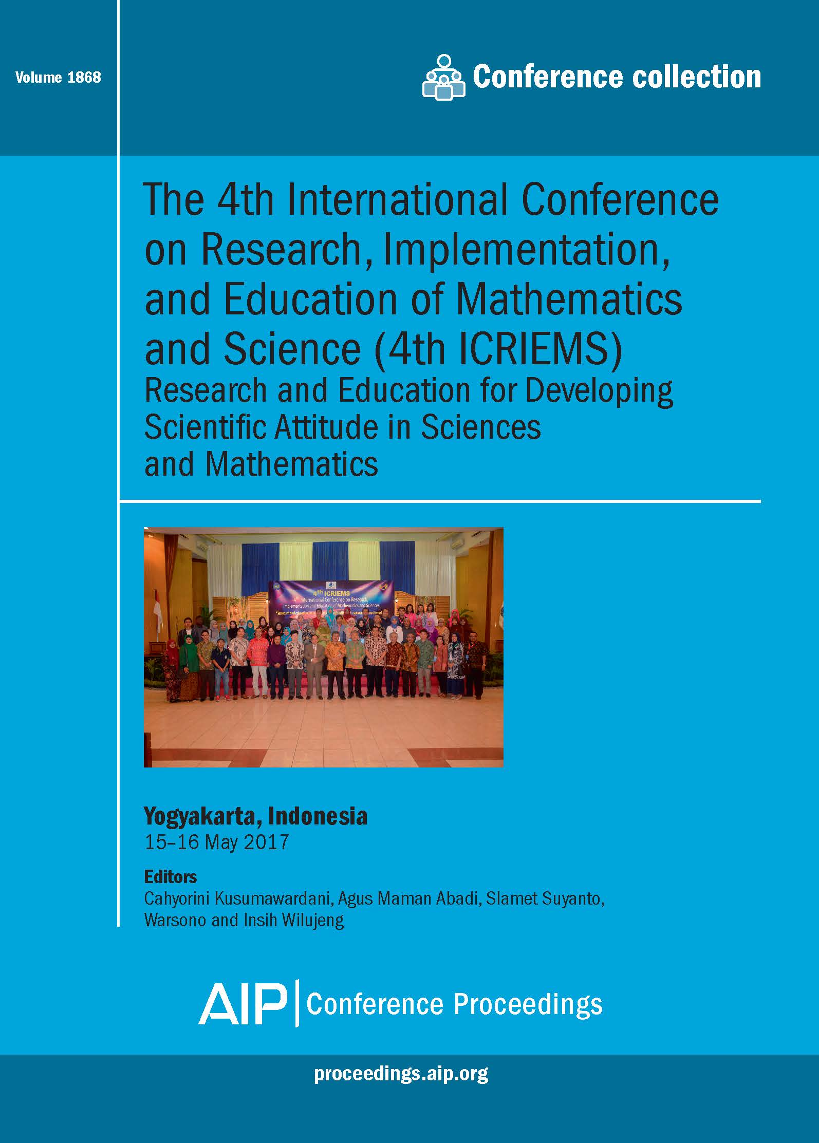 Volume 1868: The 4th International Conference on Research