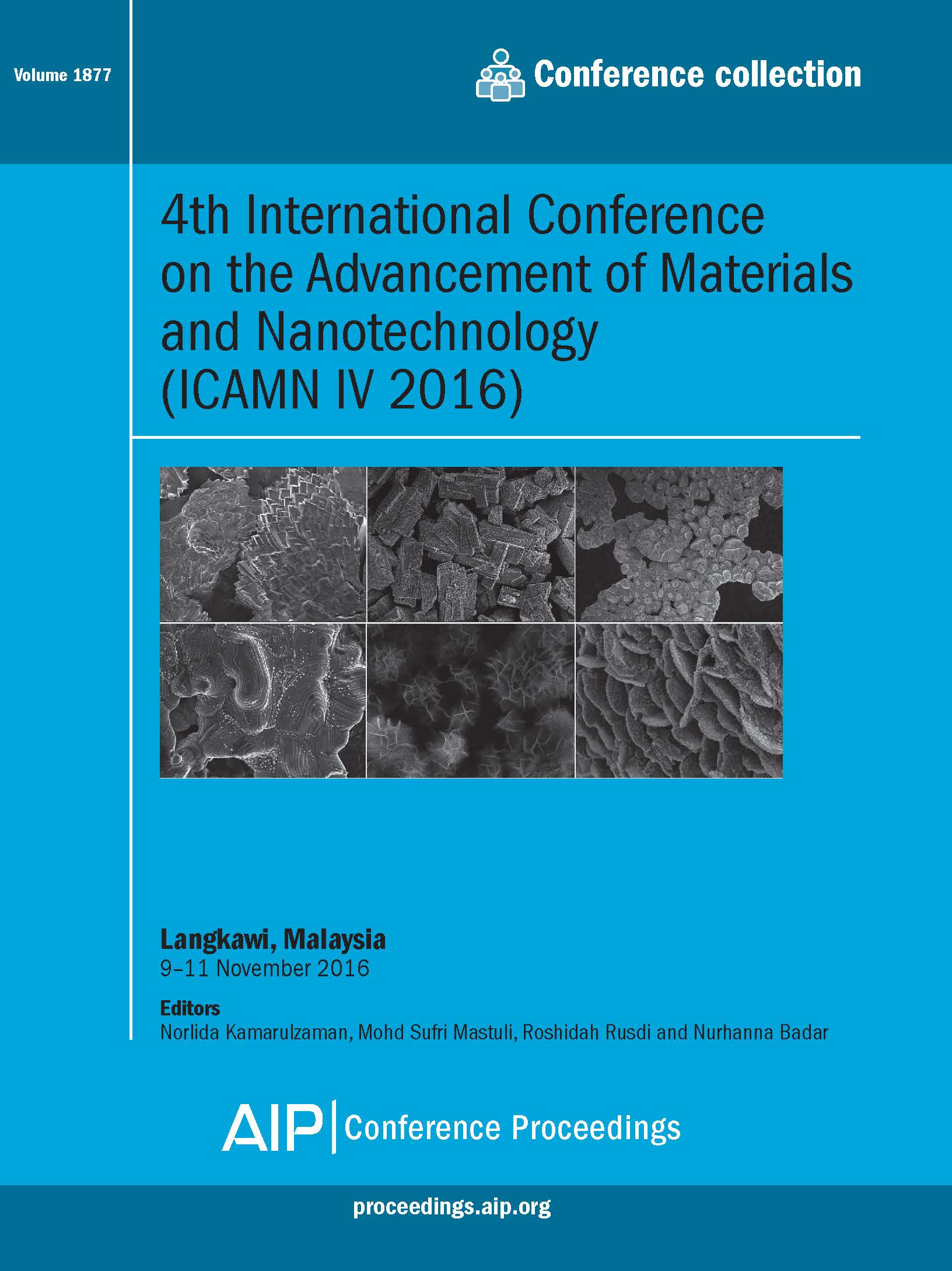 Volume 1877: 4th International Conference on the Advancement