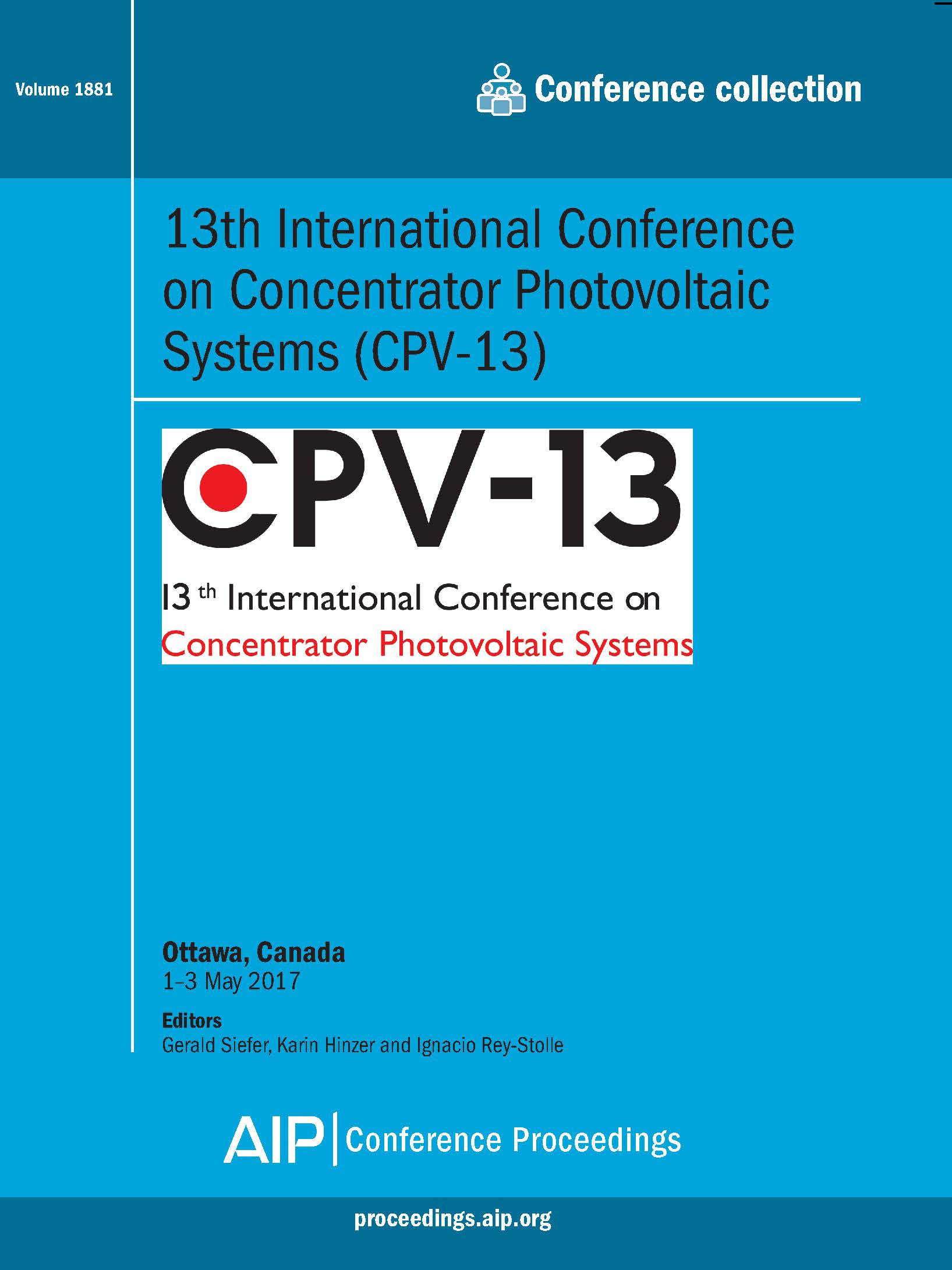 Volume 1881: 13th International Conference on Concentrator