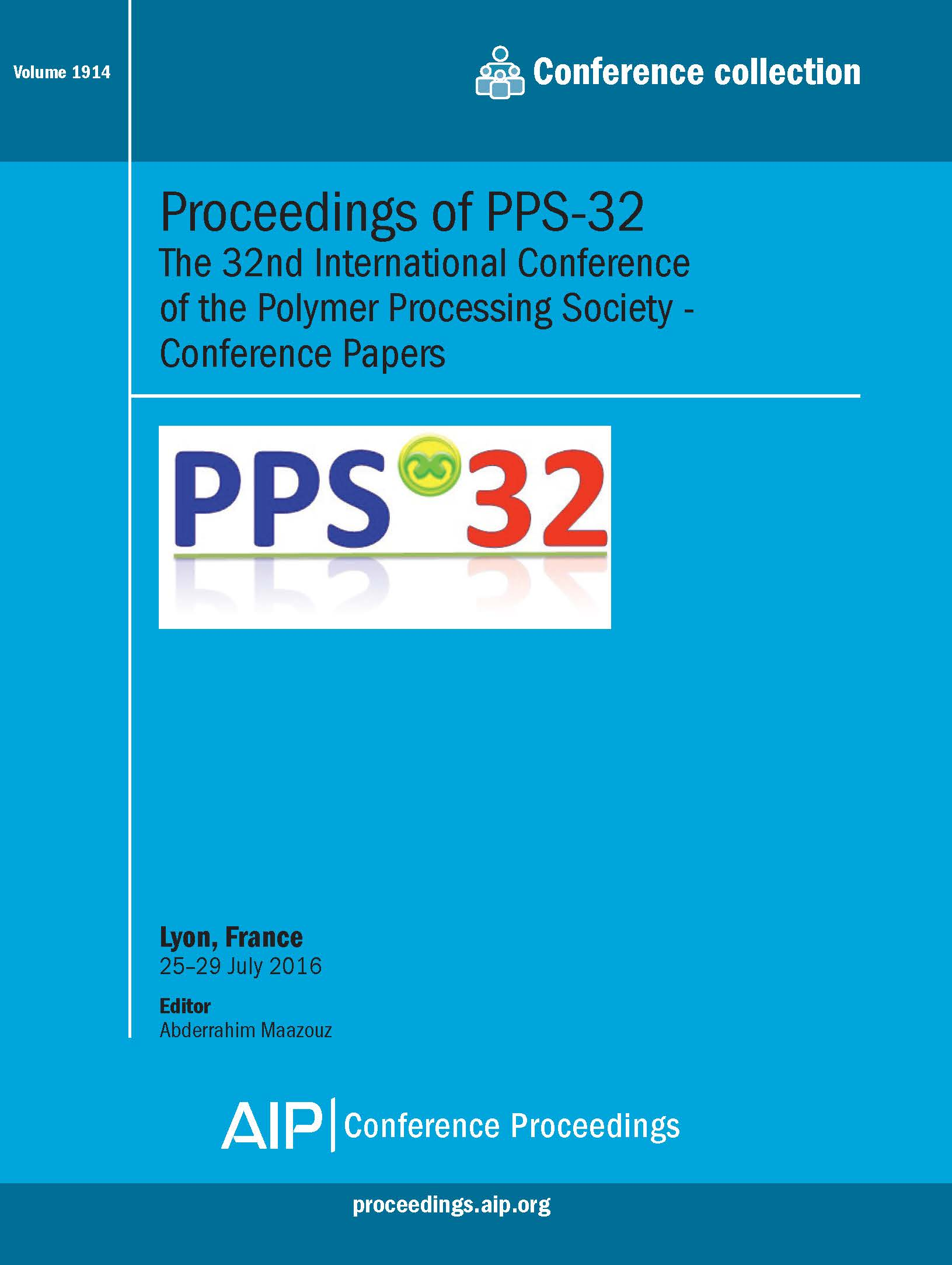 Volume 1914: Proceedings of PPS-32   AIP Publishing Print on Demand