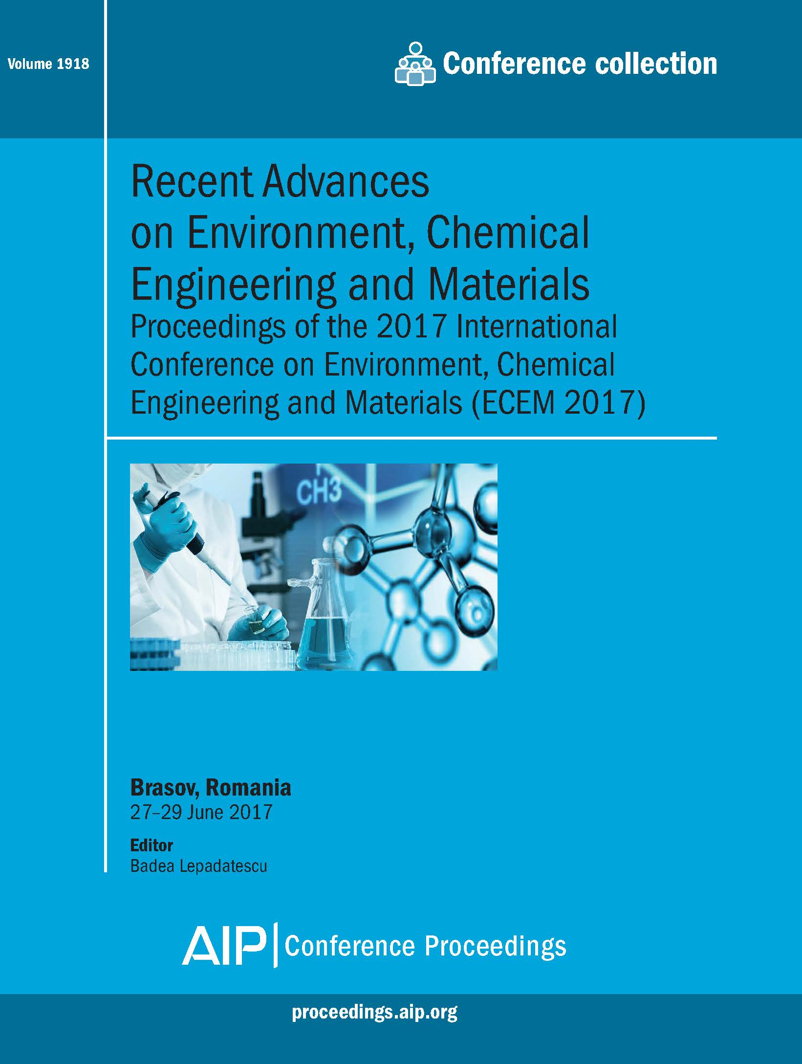 Volume 1918: Recent Advances on Environment, Chemical Engineering