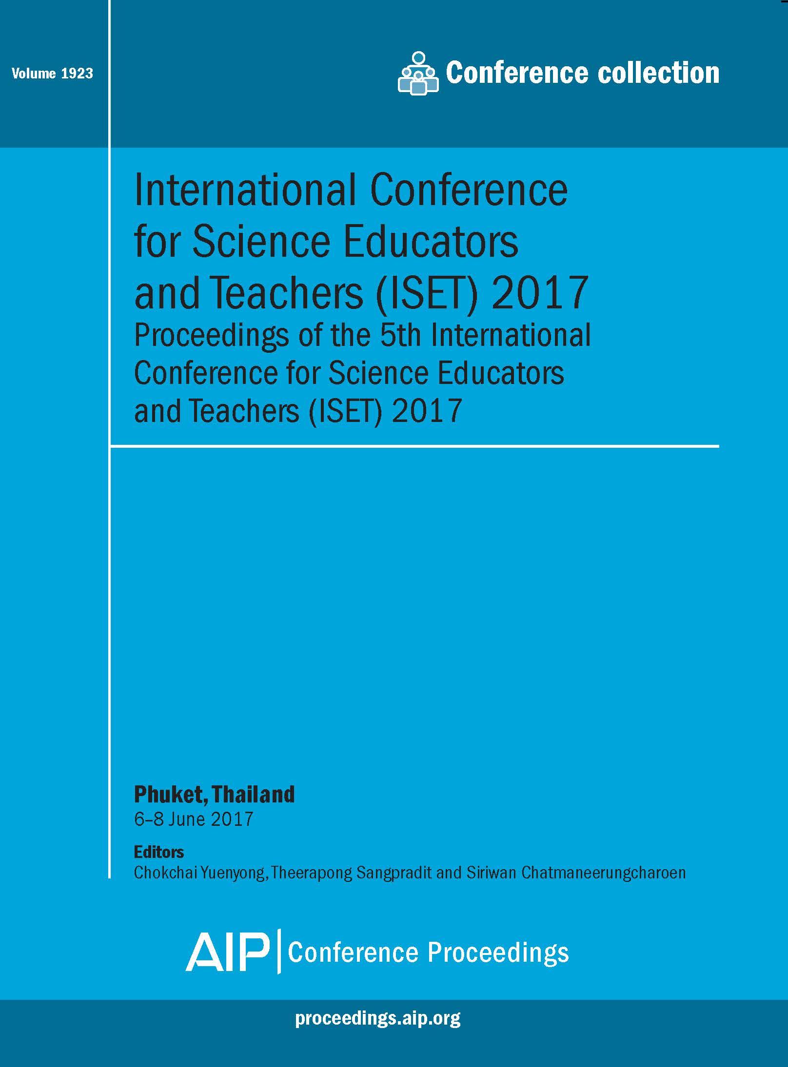 Volume 1923: International Conference of Science Educators