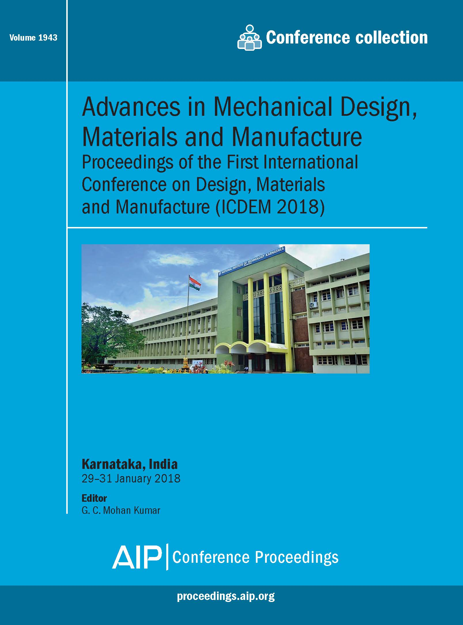 Volume 1943: Advances in Mechanical Design, Materials and