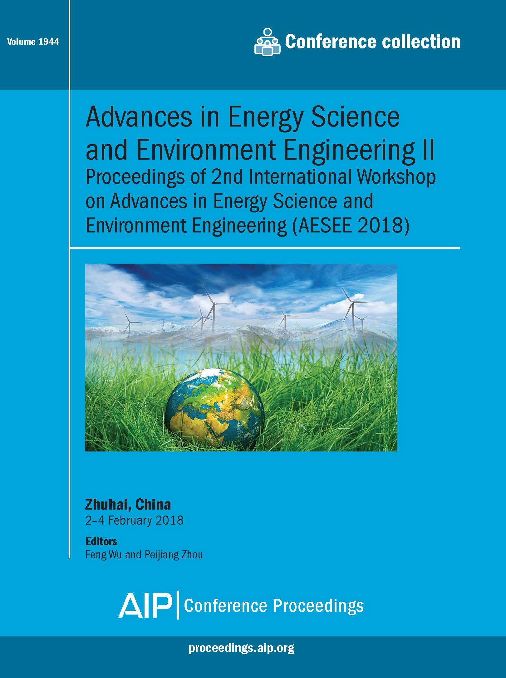 Volume 1944: Advances in Energy Science and Environment