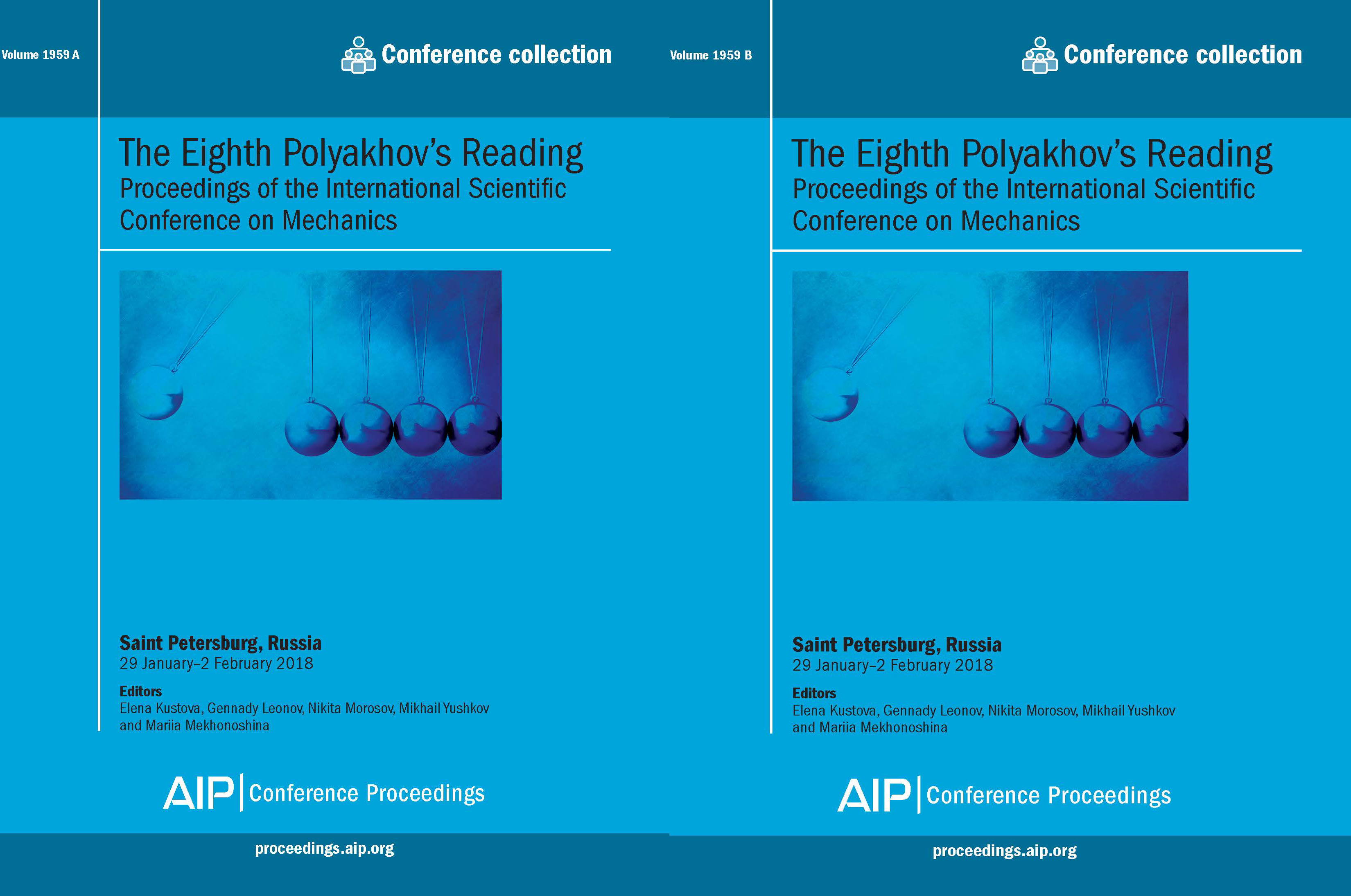 Volume 1959: The Eighth Polyakhov's Reading | AIP Publishing Print