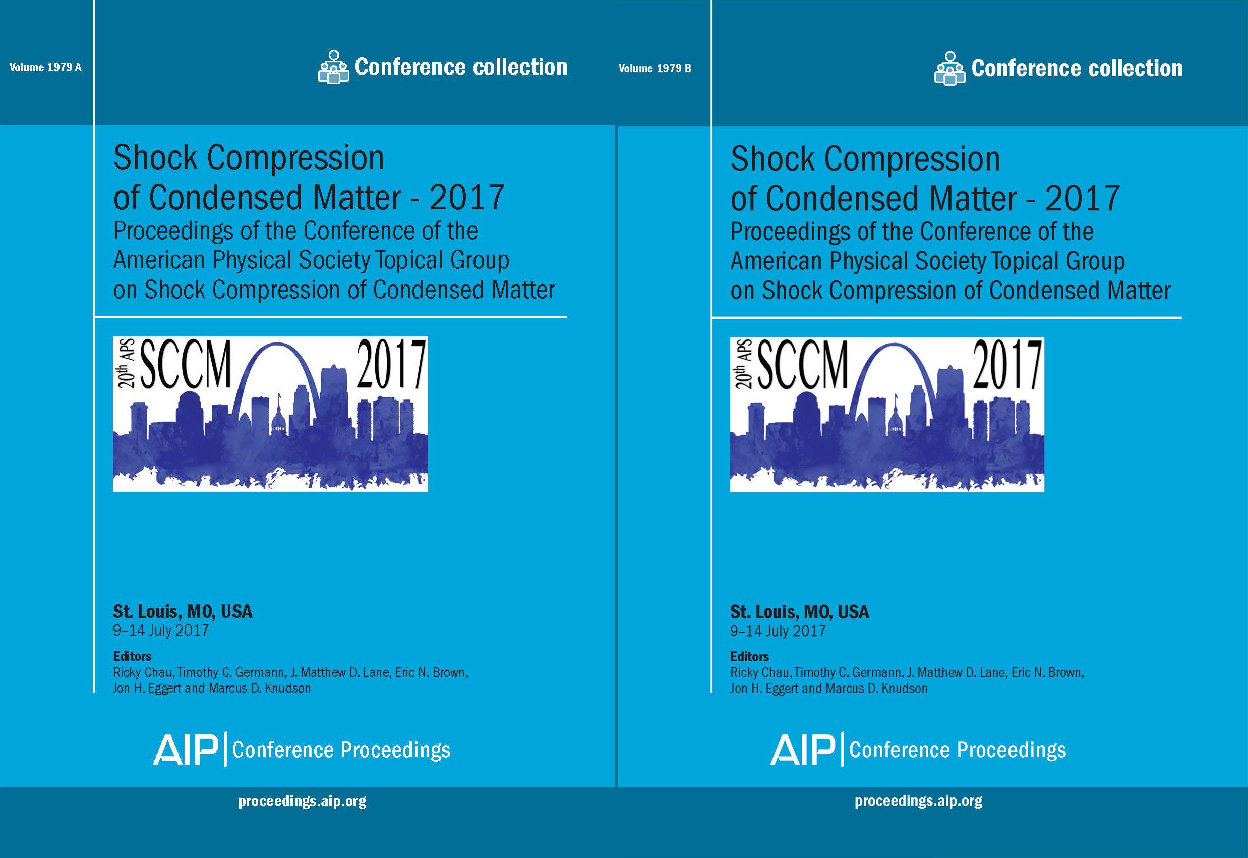 Volume 1979: Shock Compression of Condensed Matter - 2017   AIP