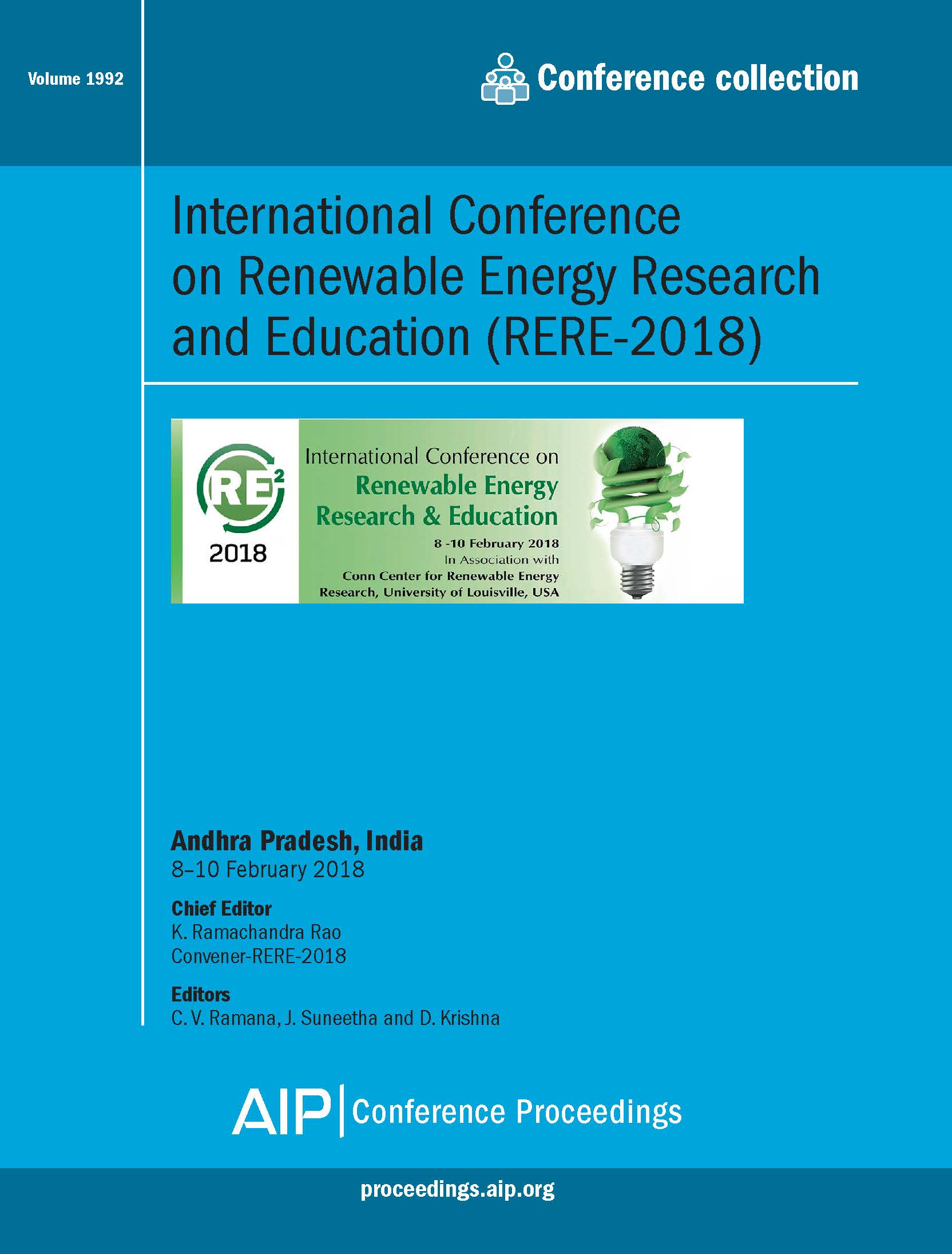 Volume 1992: International Conference on Renewable Energy Research