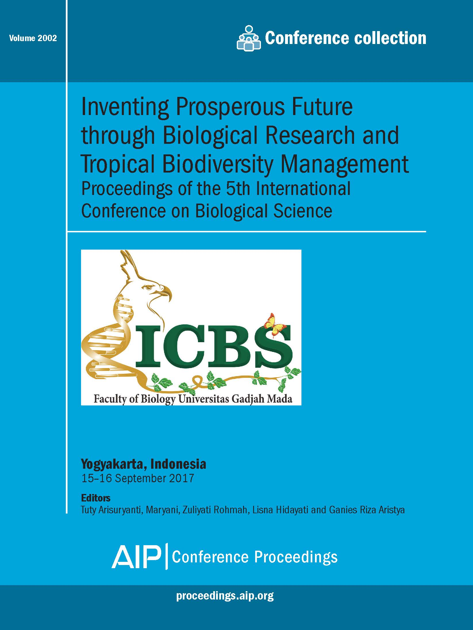 Volume 2002: Inventing Prosperous Future through Biological Research