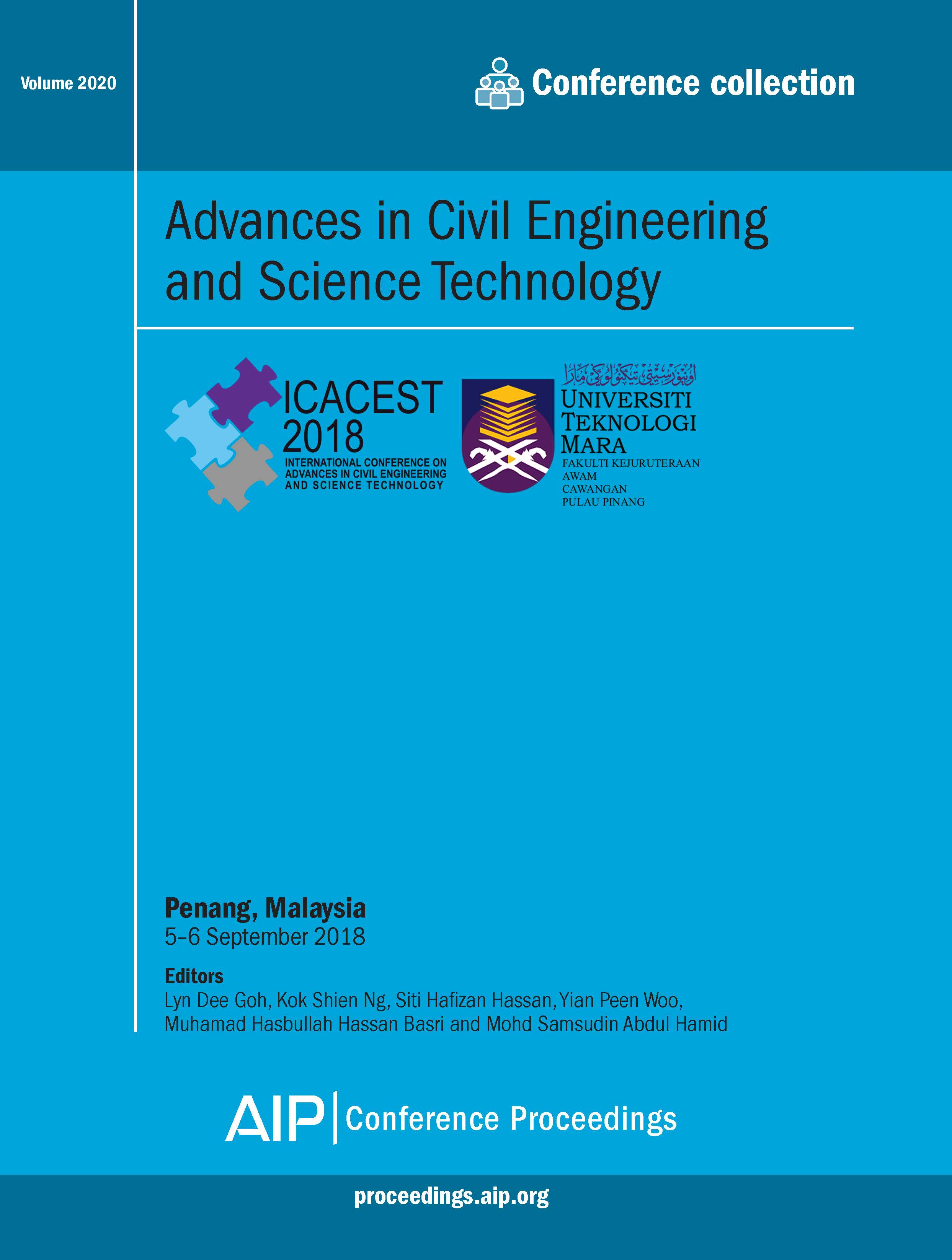 Volume 2020: Advances in Civil Engineering and Science Technology