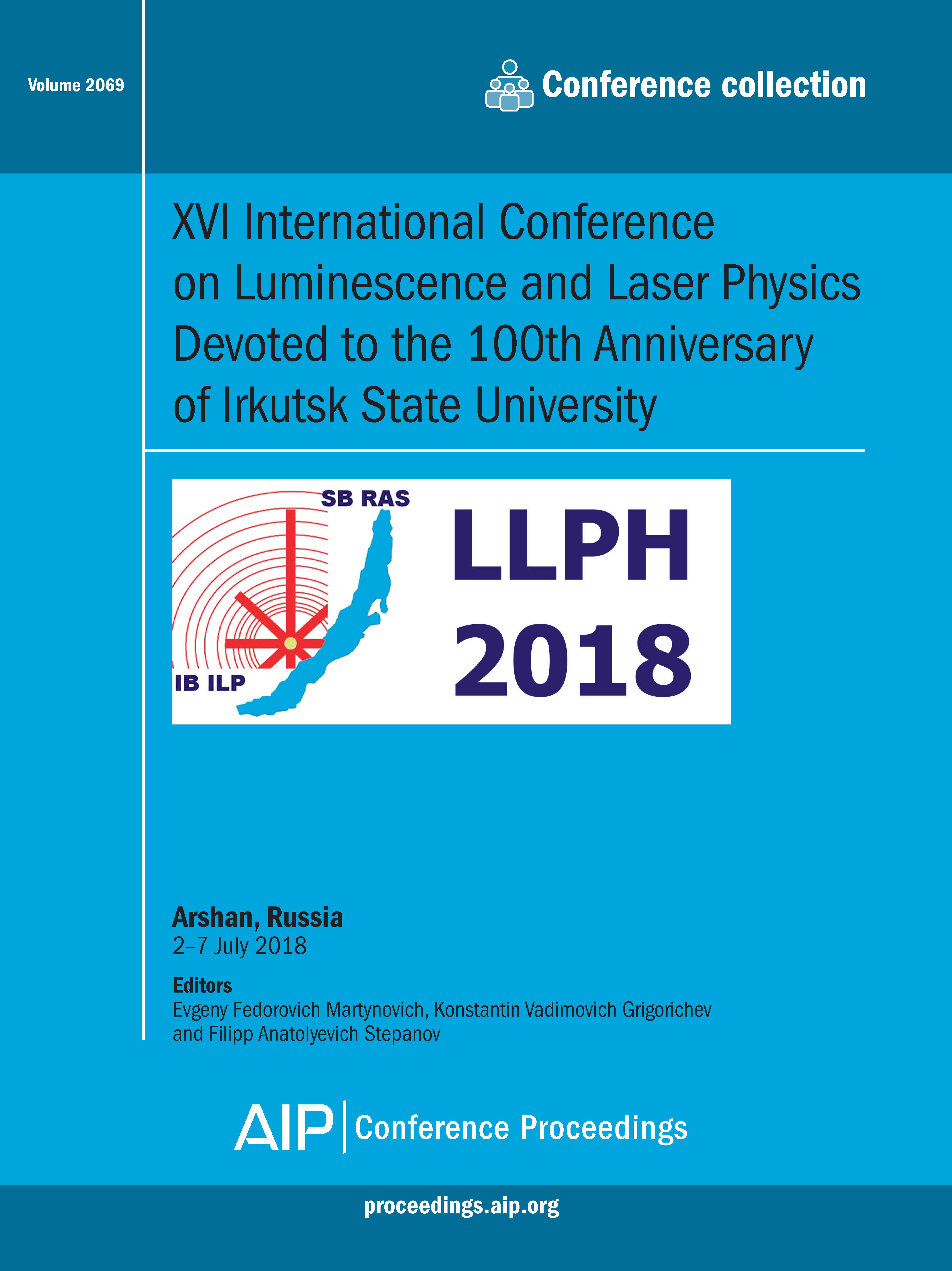 Volume 2069: XVI International Conference on Luminescence