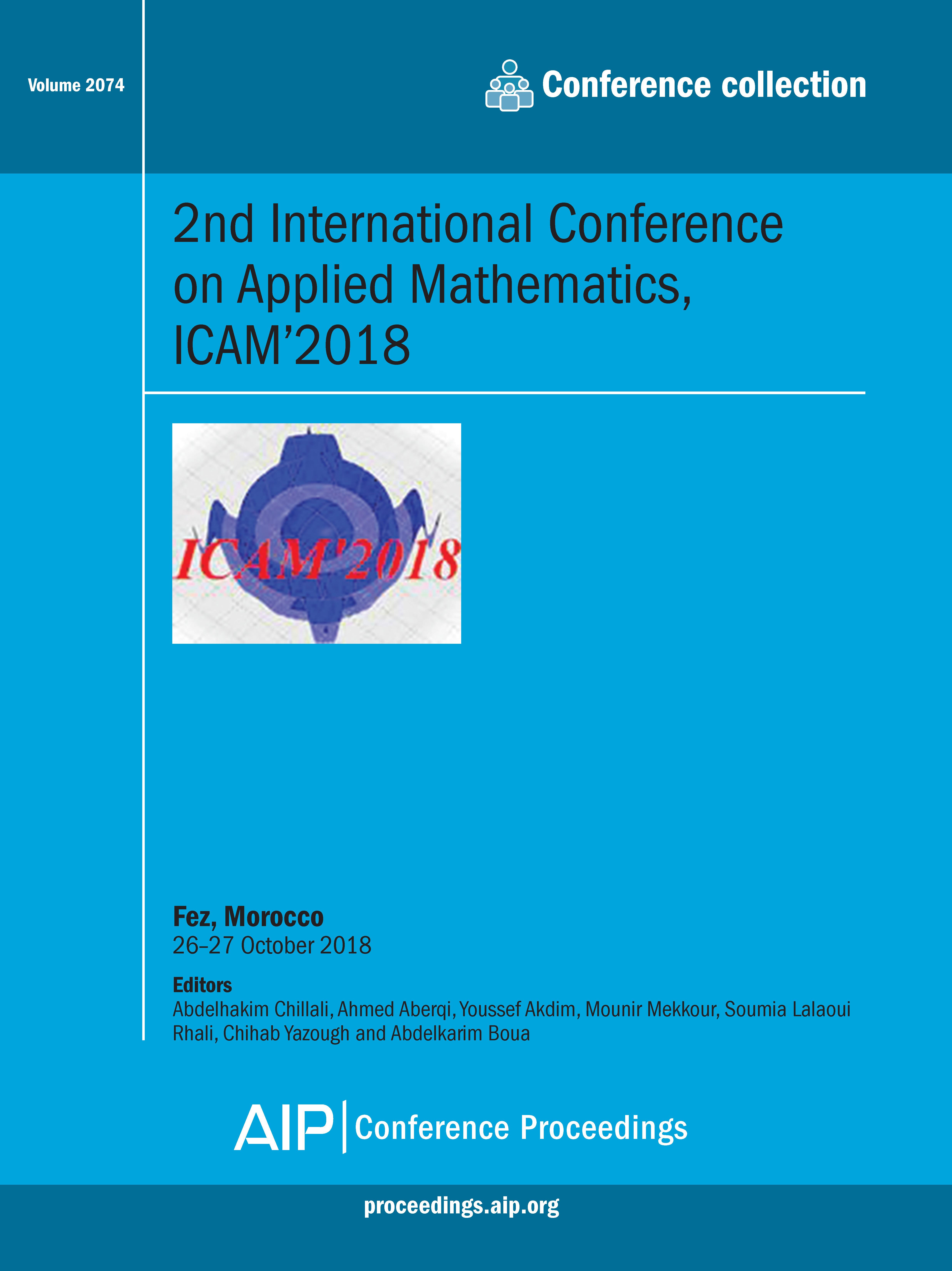 Volume 2074: 2nd International Conference On Applied Mathematics