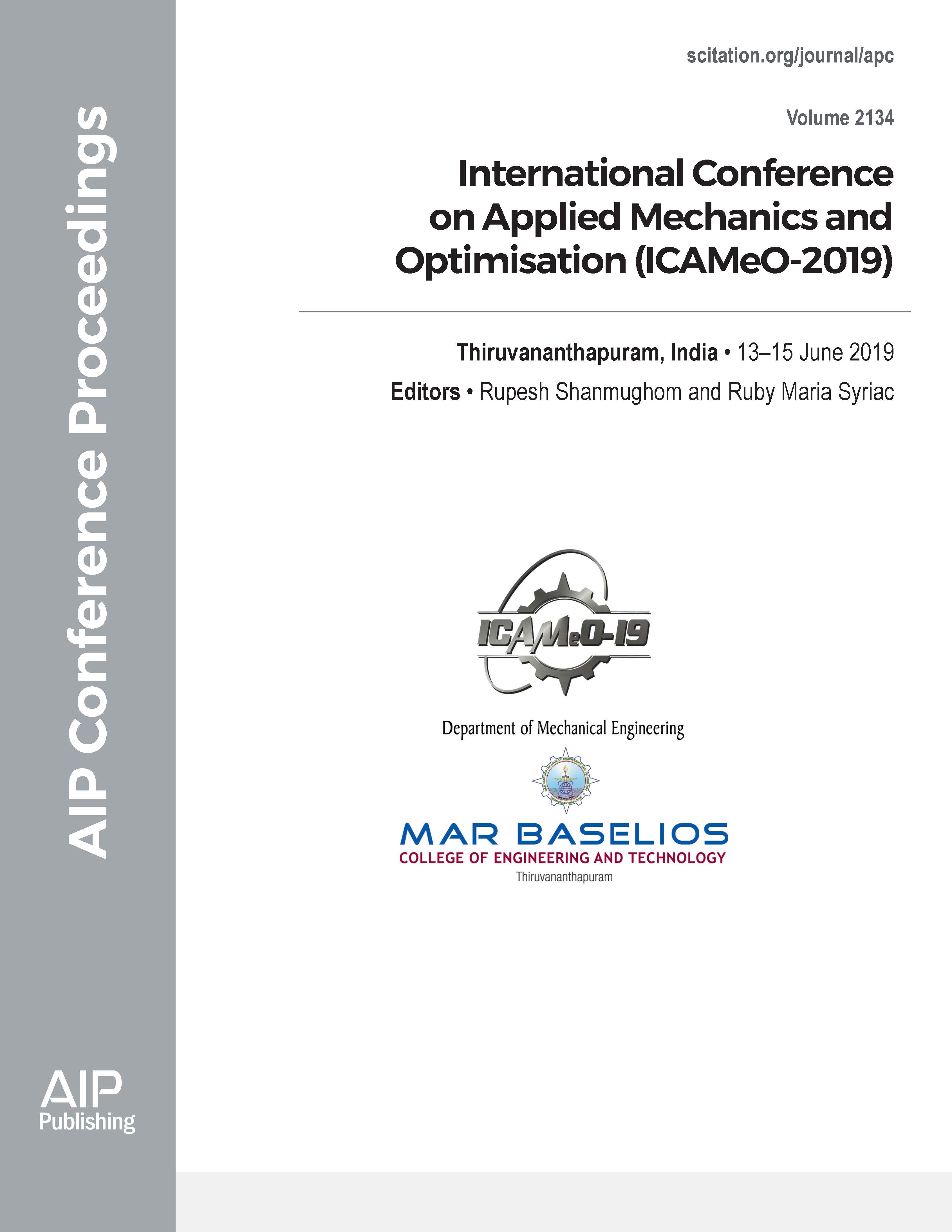 Volume 2134: International Conference on Applied Mechanics and